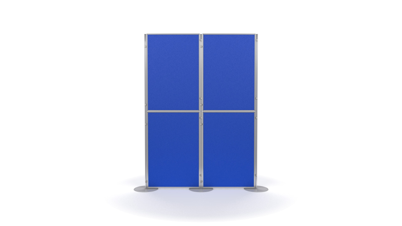Aluminium 4 Panel and Pole Modular Display Board System