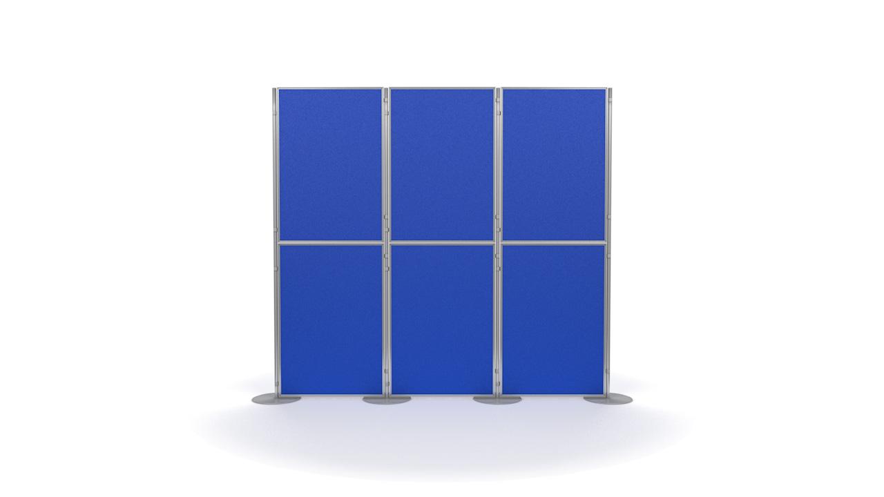 Aluminium 6 Panel and Pole Modular Display Board System