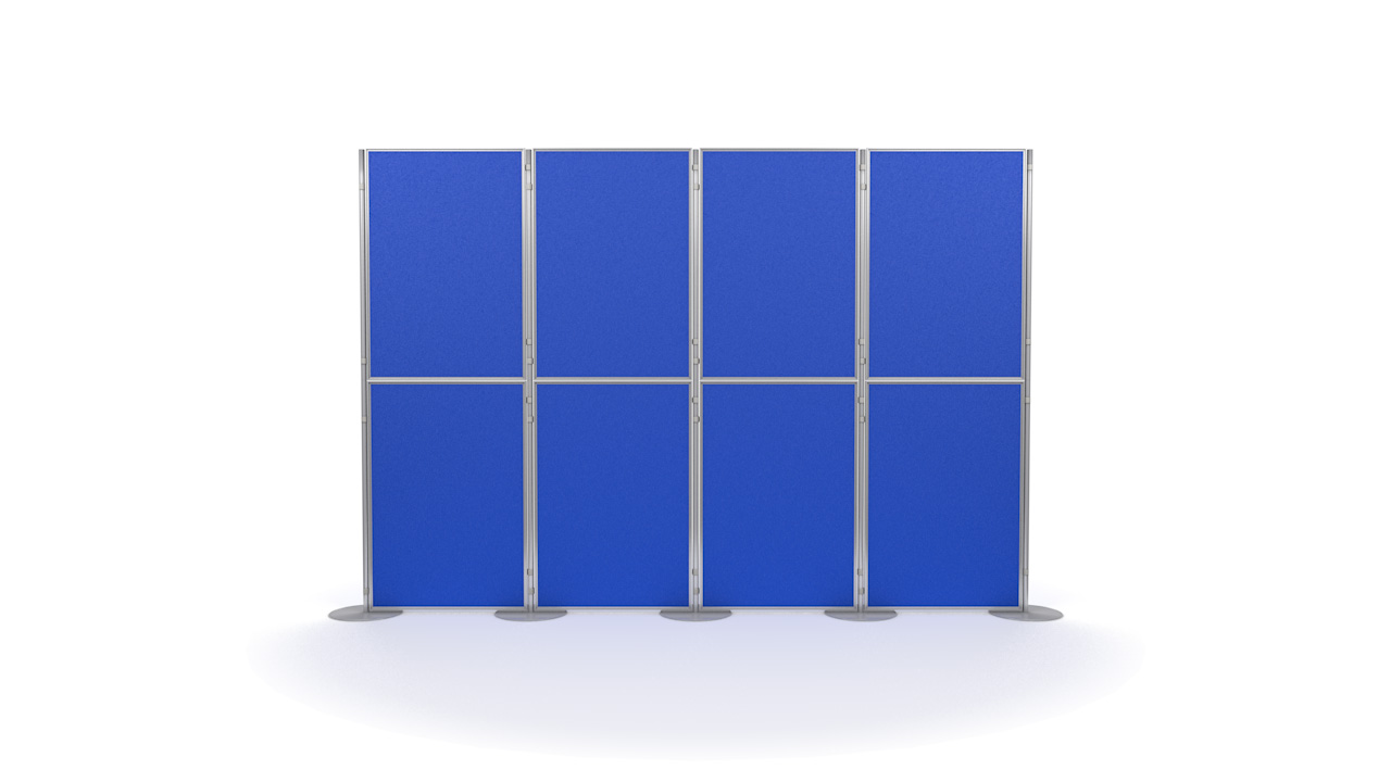 Aluminium 8 Panel and Pole Modular Display Board System