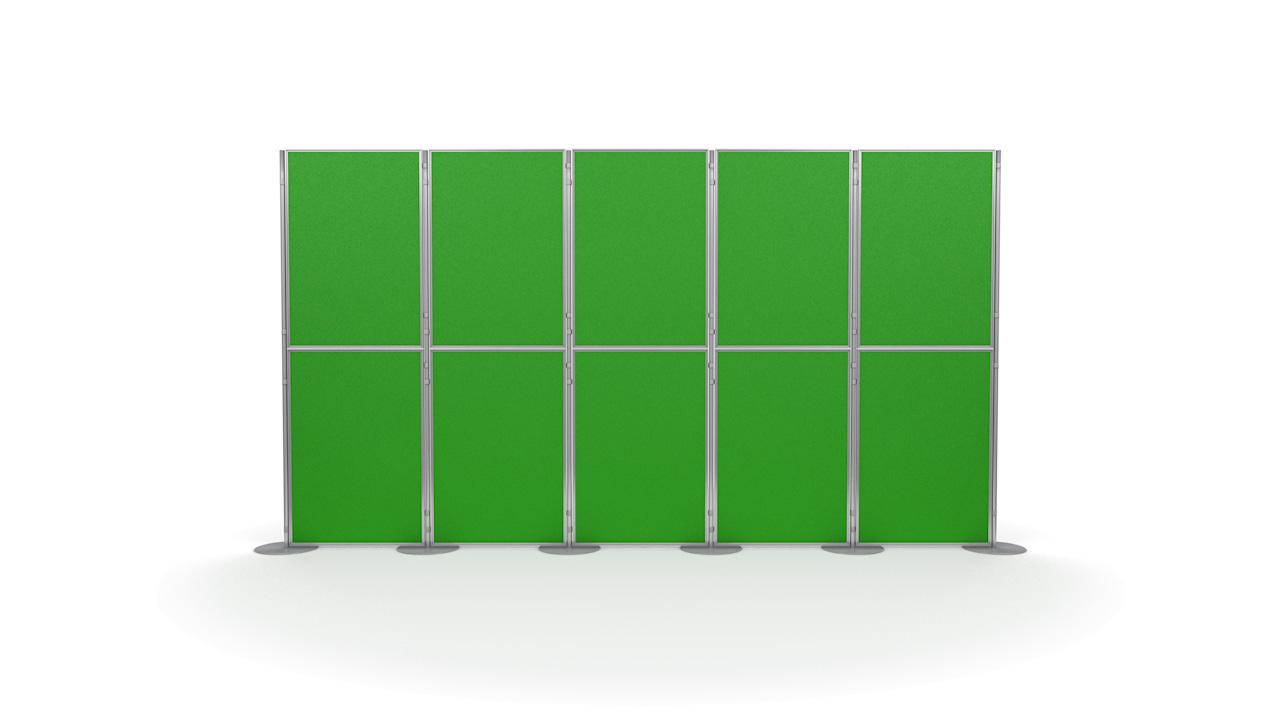 Pinnable 10 Panel and Pole Modular Display Board