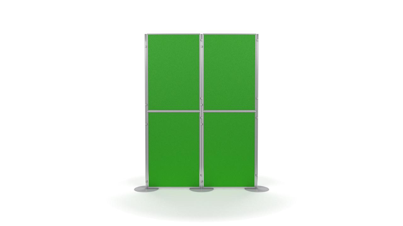 Pinnable 4 Panel And Pole Modular Display Boards