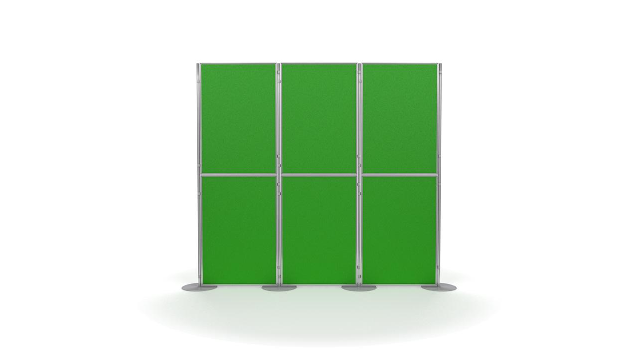 Pinnable 6 Panel And Pole Modular Display Boards