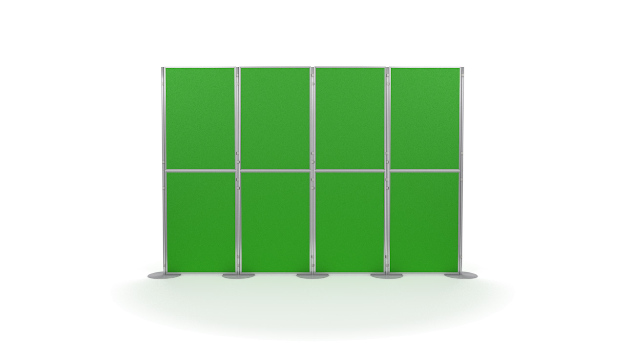 Pinnable 8 Panel and Pole Portable Display Board