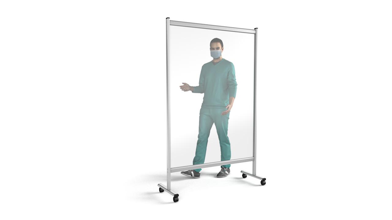 PREMIUM Mobile Perspex Divider Medical Screen