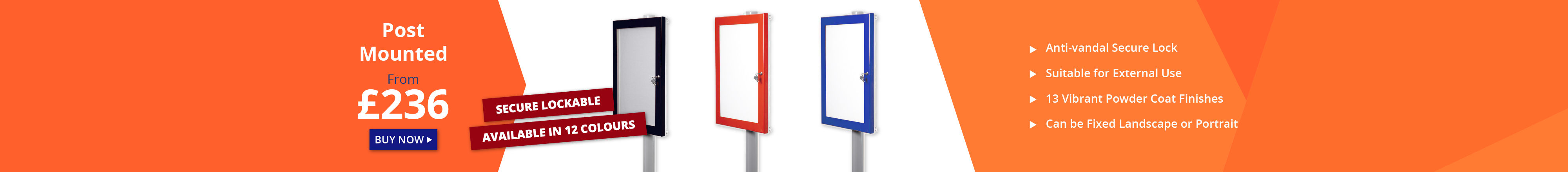 Post Mounted External Noticeboards XL Displays