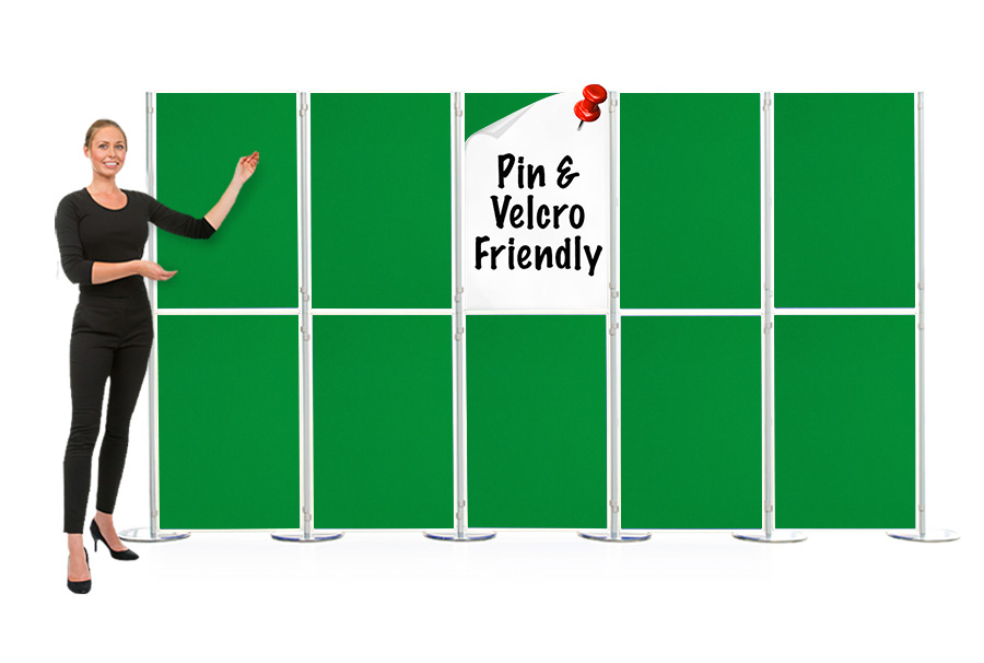 Pinnable 10 Panel and Pole Modular Display Board
