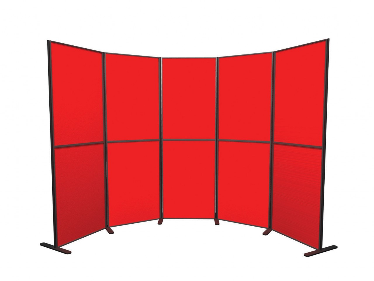XL Standard 10 panel and pole modular display board system inc. carry bag