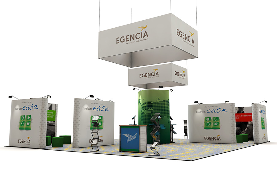 12m x 10m Linked Pop Up Exhibition Stand