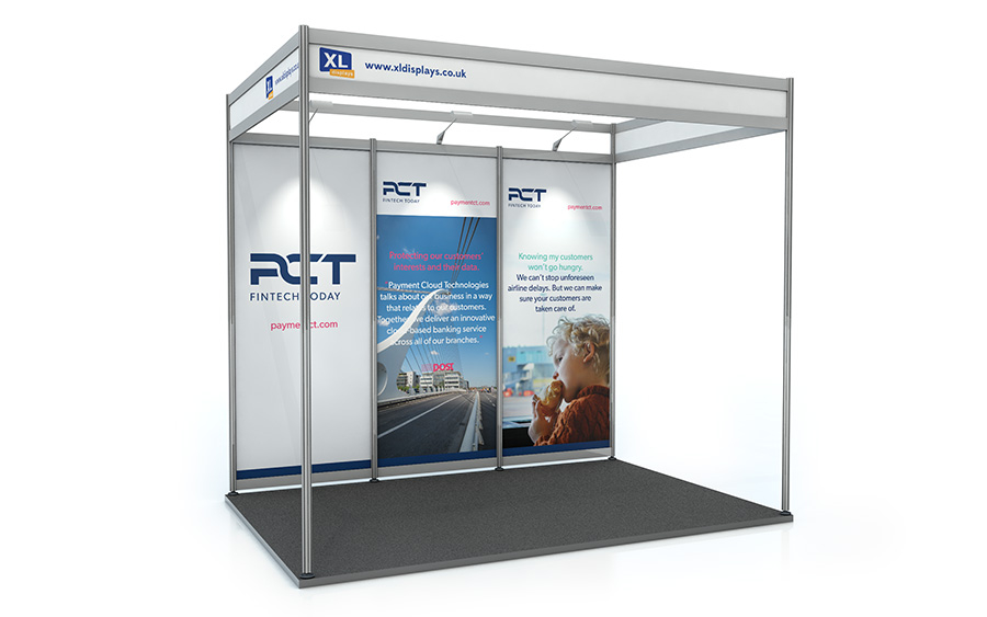 2m x 3m Shell Scheme Back Wall Exhibition Stand PVC Graphics