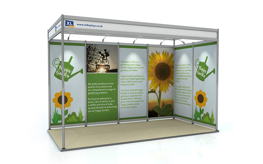 2m x 4m L-Shape Exhibition Shell Scheme Foamex Graphics