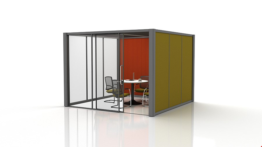 3m x 3m Partially Glazed Office Pod