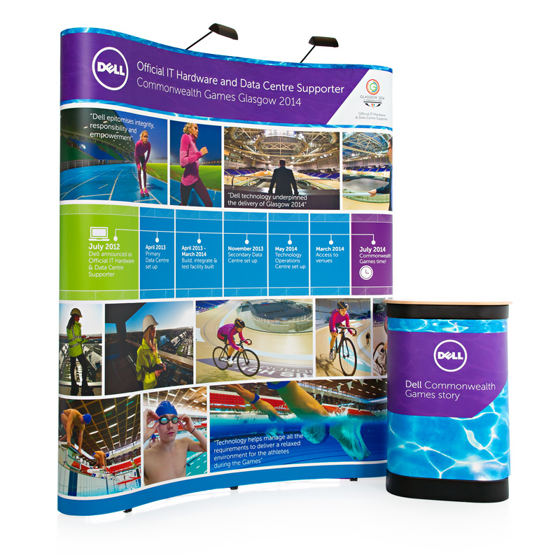 3x2 pop up stand including frame graphics portable carry case and spotlights