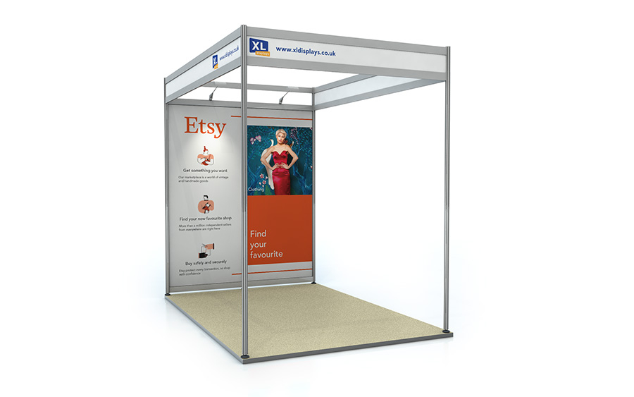 3m x 2m Shell Scheme Back Wall Exhibition Stand Foamex Graphics