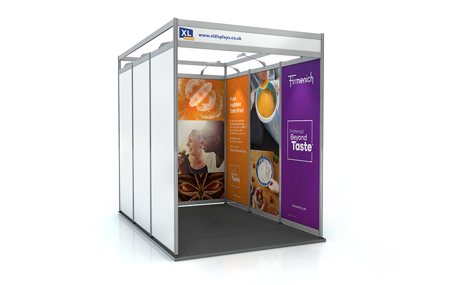 3m x 2m U-Shape Shell Scheme Exhibition Stand Graphics PVC
