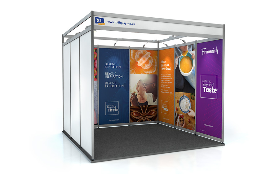 3m x 3m U-Shape Exhibition Shell Scheme PVC Graphics
