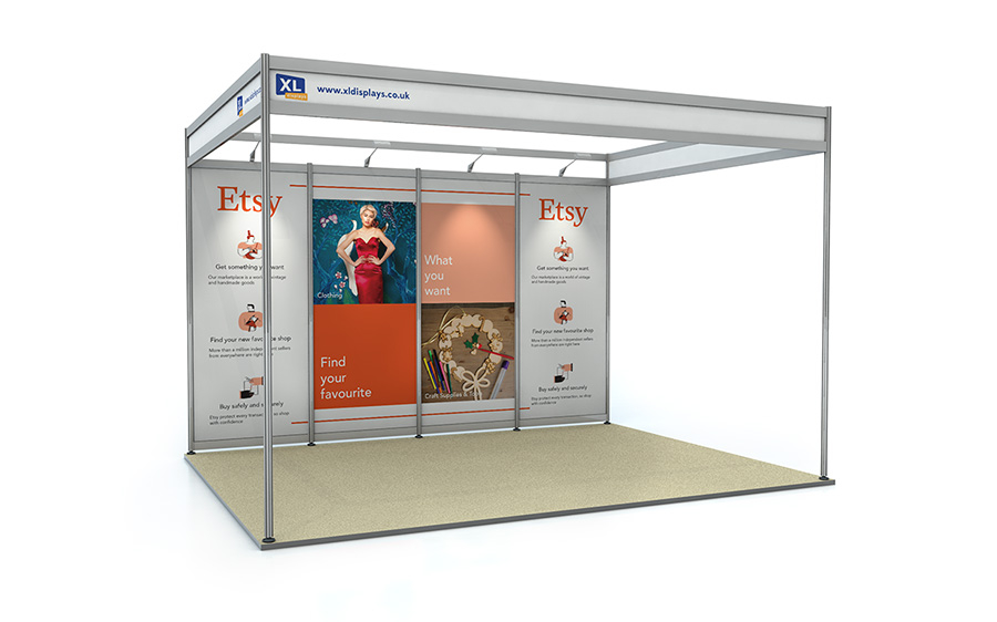 3m x 4m Back Wall Exhibition Shell Scheme Panels Foamex
