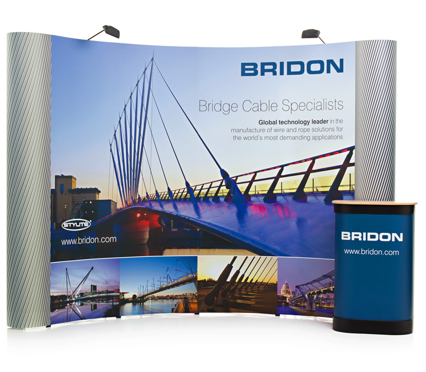 3x4 Double Sided Curved Pop Up Stand