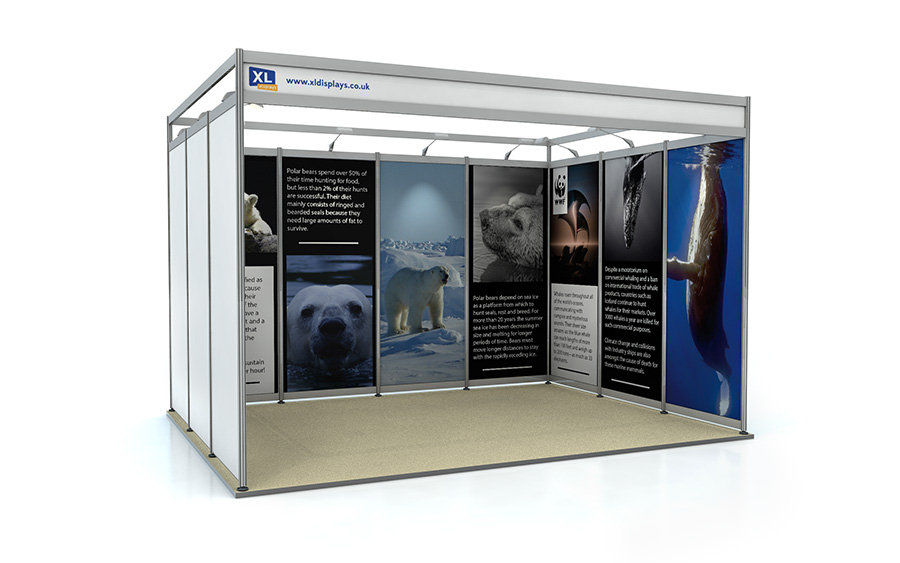 3m x 4m U-Shape Exhibition Shell Scheme Foamex Graphics