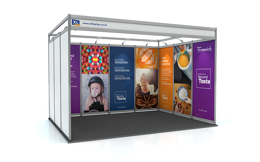 3m x 4m U-Shape Exhibition Shell Scheme PVC Graphics