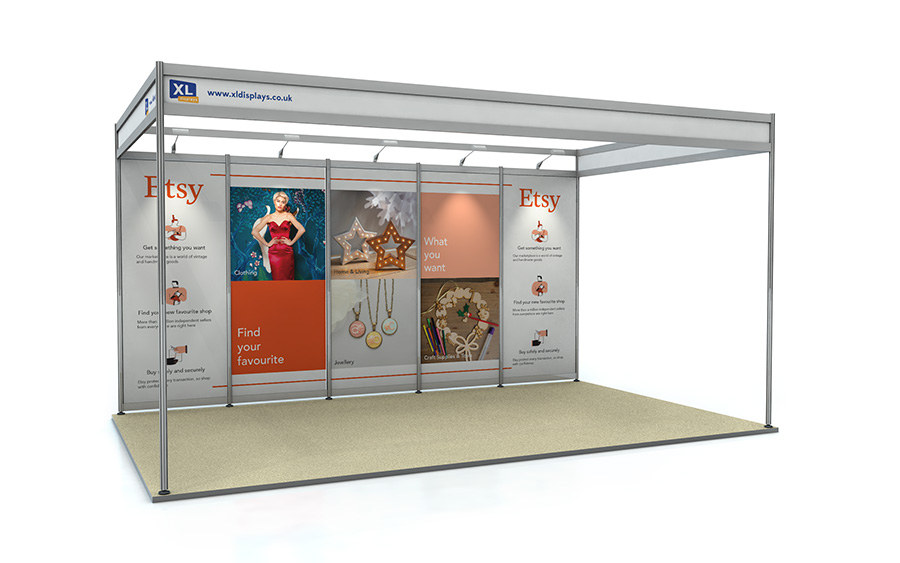 3m x 5m Exhibition Shell Scheme Back Wall Foamex Graphics