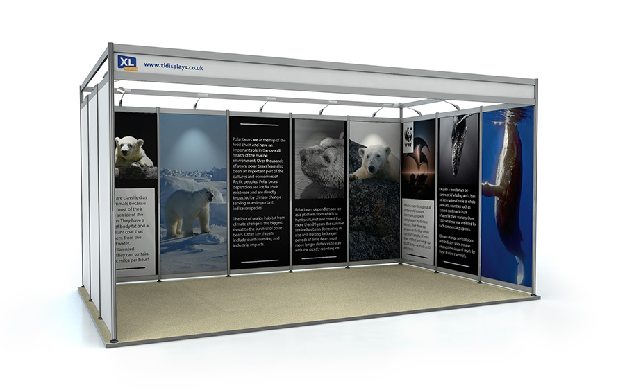 3m x 5m U-Shape Shell Scheme Exhibition Stand Foamex Graphics