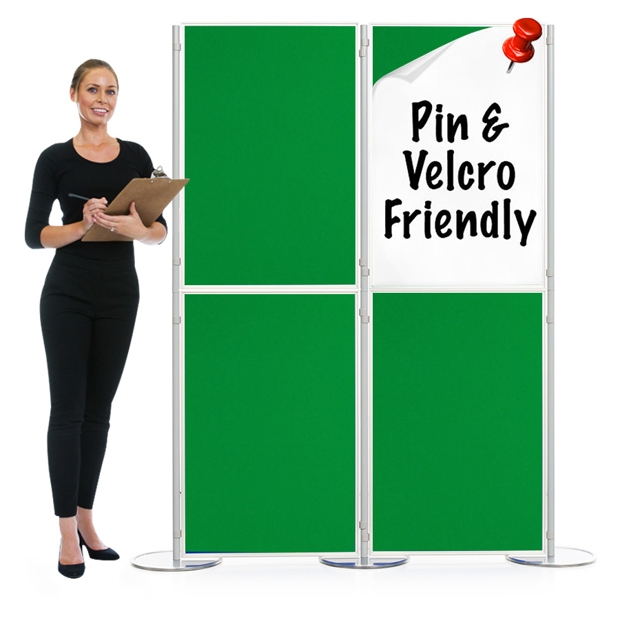 Pinnable 4 Panel And Pole Modular Display Boards