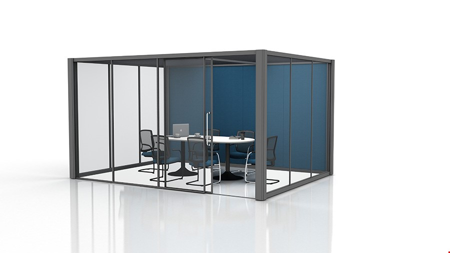 4m x 3m Office Pods With Glass Partitions