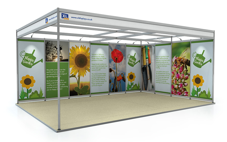 4m x 6m L-Shape Exhibition Shell Scheme Foamex Graphics
