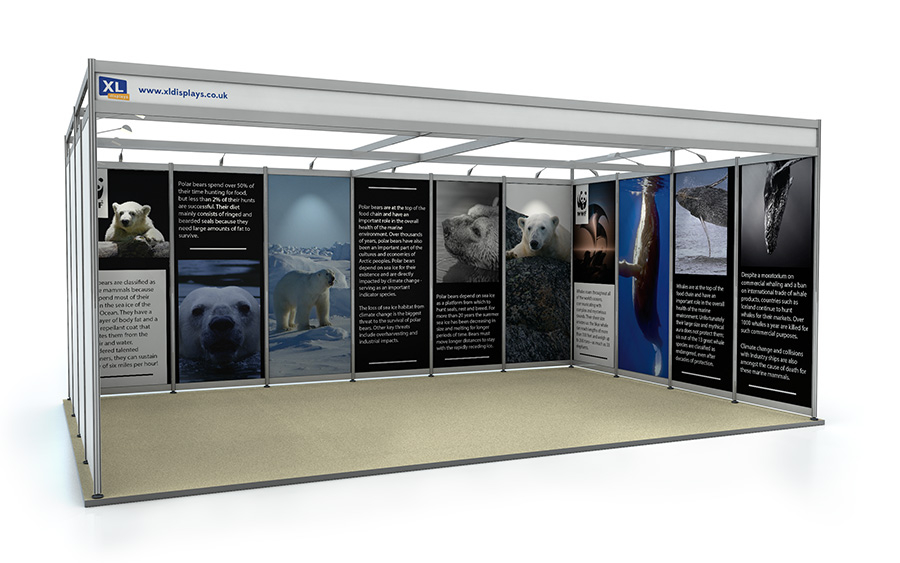 4m x 6m U-Shape Shell Scheme Exhibition Stand Foamex Panels