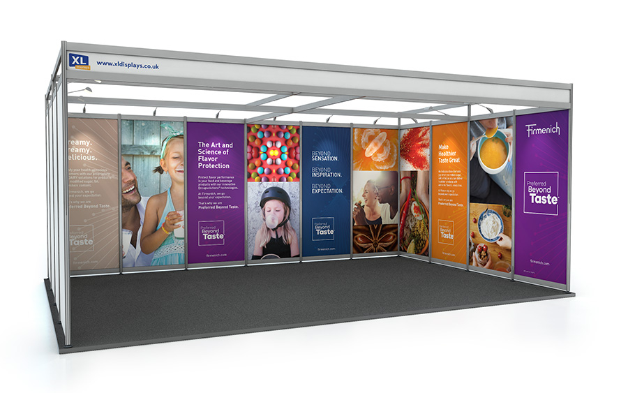 4m x 6m U-Shape Shell Scheme Exhibition Stand PVC Graphics