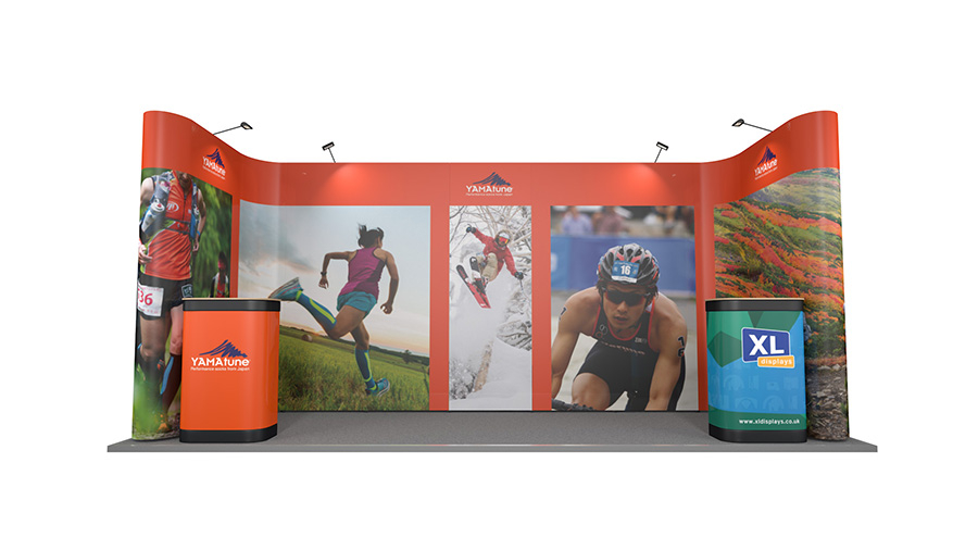 5m x 2m U-Shaped Pop Up Exhibition Stand Backwall