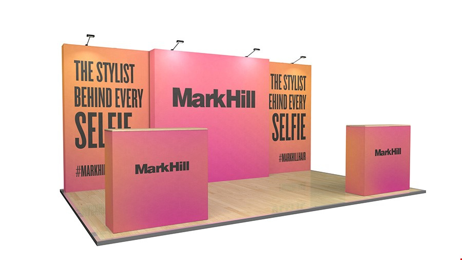 5m Tension Fabric Exhibition Stand Display