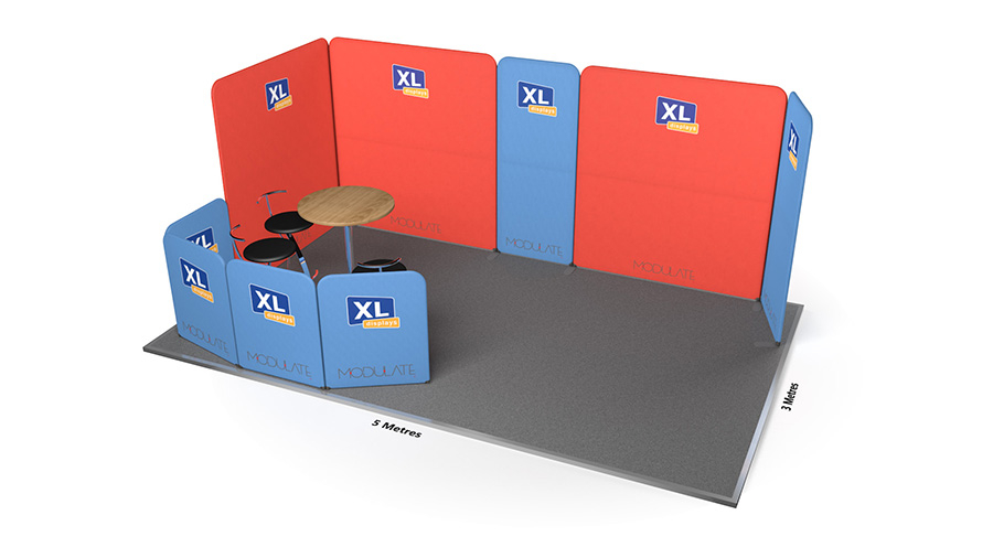 Modulate™ 5m x 3m Stretch Fabric Exhibition Stand