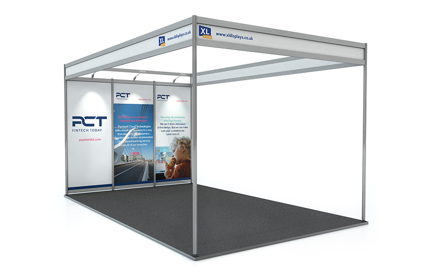 5m x 3m Exhibition Shell Scheme Back Wall PVC Graphics