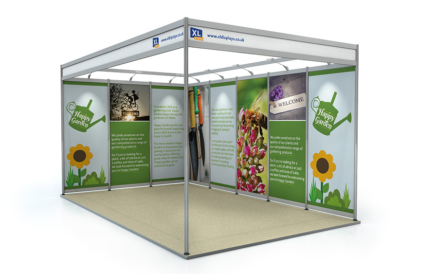 5m x 3m L-Shape Exhibition Shell Scheme Foamex Graphics
