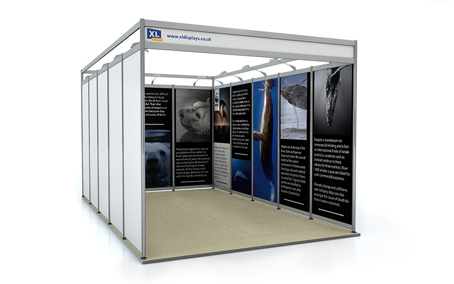 5m x 3m U-Shape Exhibition Shell Scheme Foamex Graphics