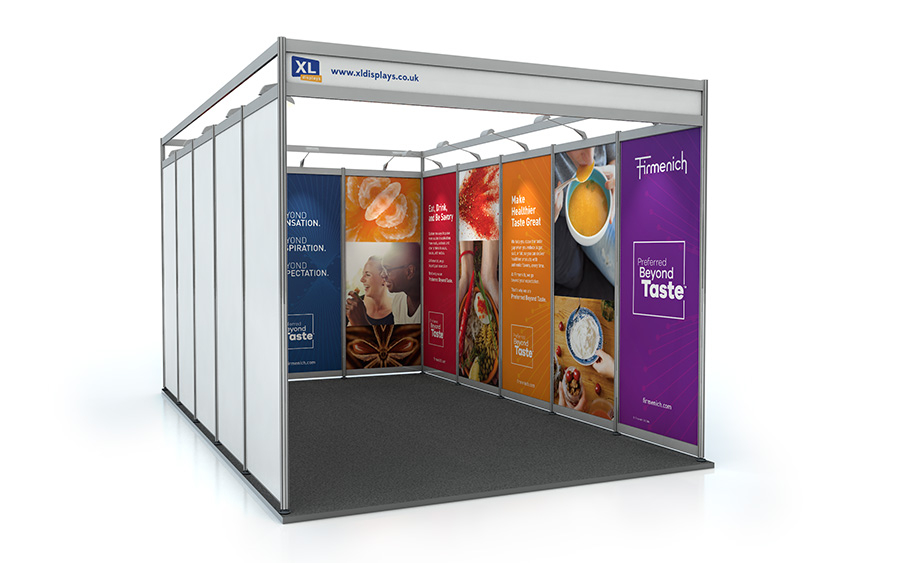 5m x 3m U-Shape Exhibition Shell Scheme PVC Graphics