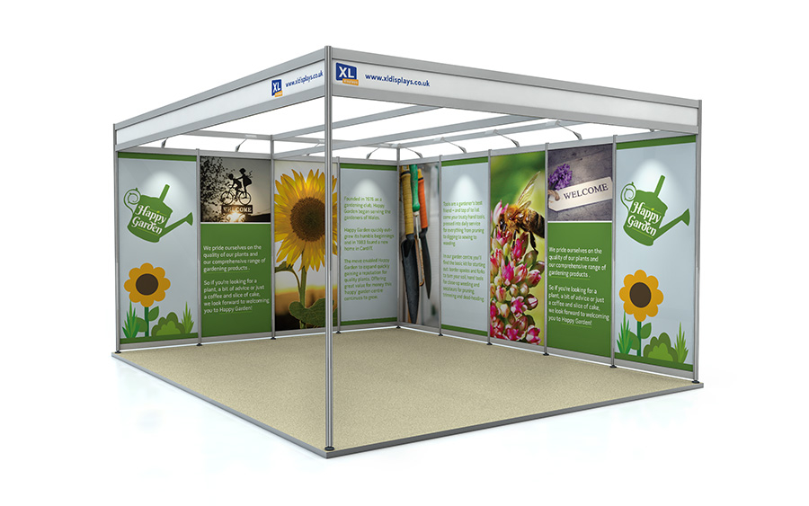 5m x 4m L-Shape Exhibition Shell Scheme Foamex Graphics