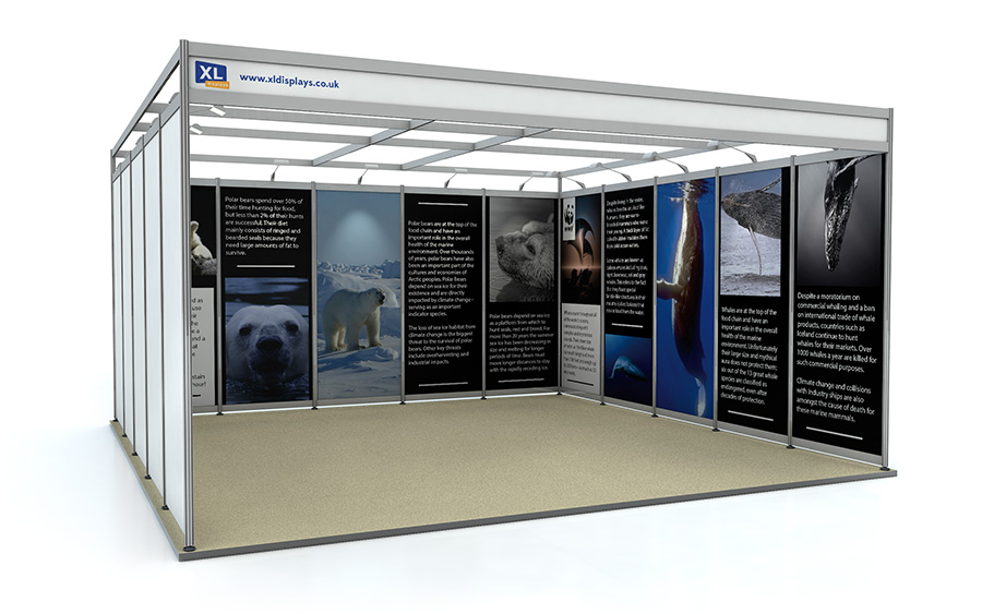 5m x 5m U-Shape Shell Scheme Exhibition Stand Foamex Graphics