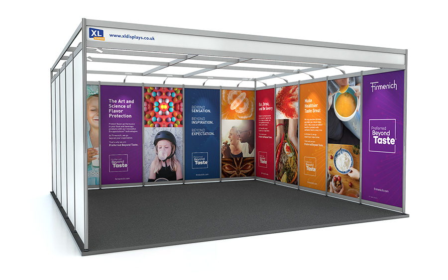 5m x 5m U-Shape Shell Scheme Exhibition Stand PVC Graphics