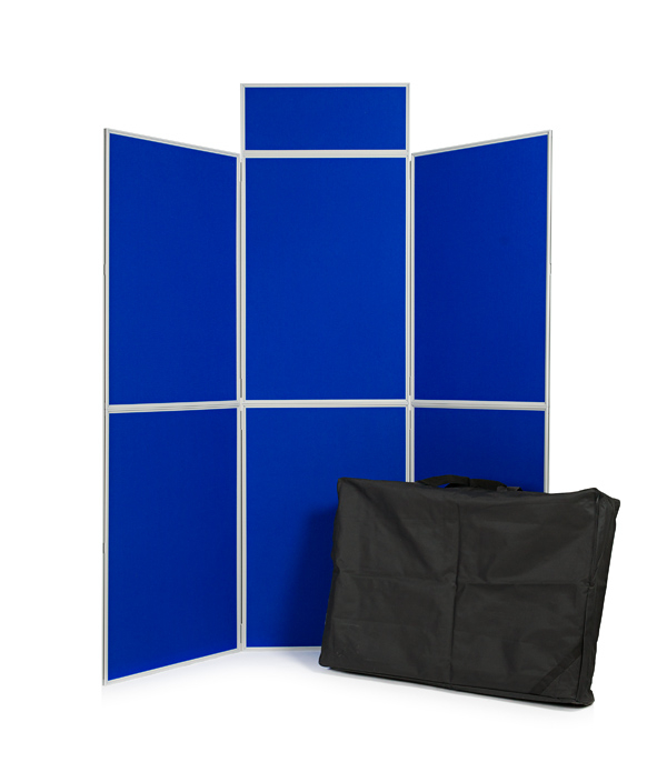 6 panel folding display board including header and carry bag