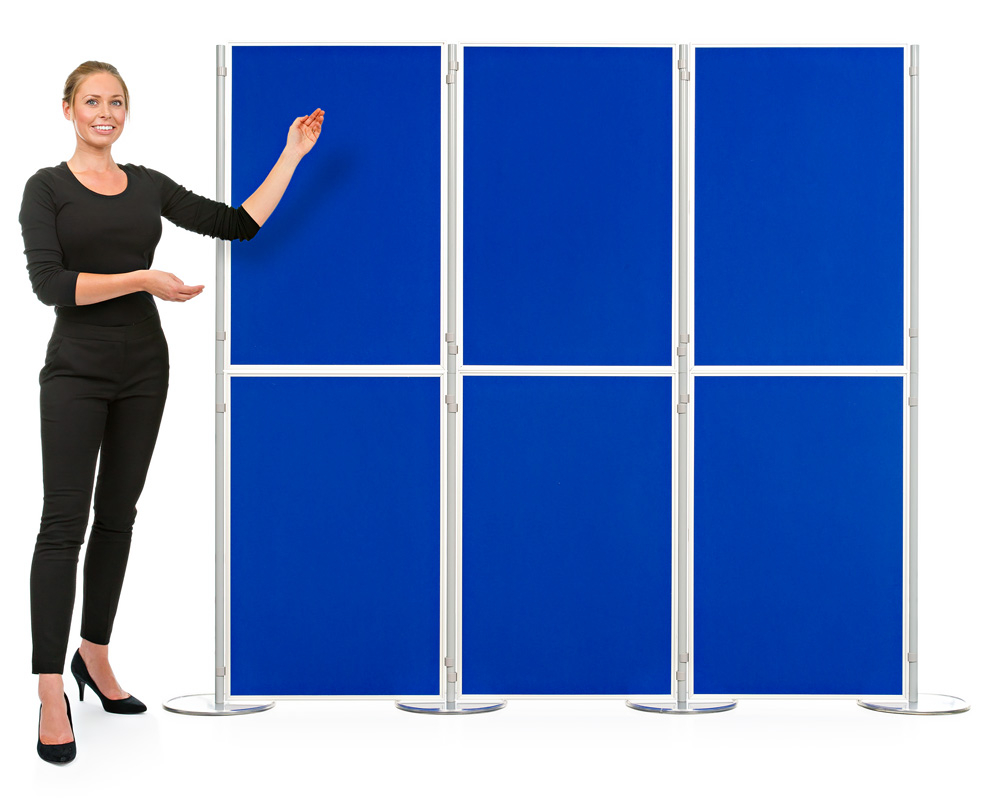 Aluminium 6 Panel and Pole Modular Display Board System