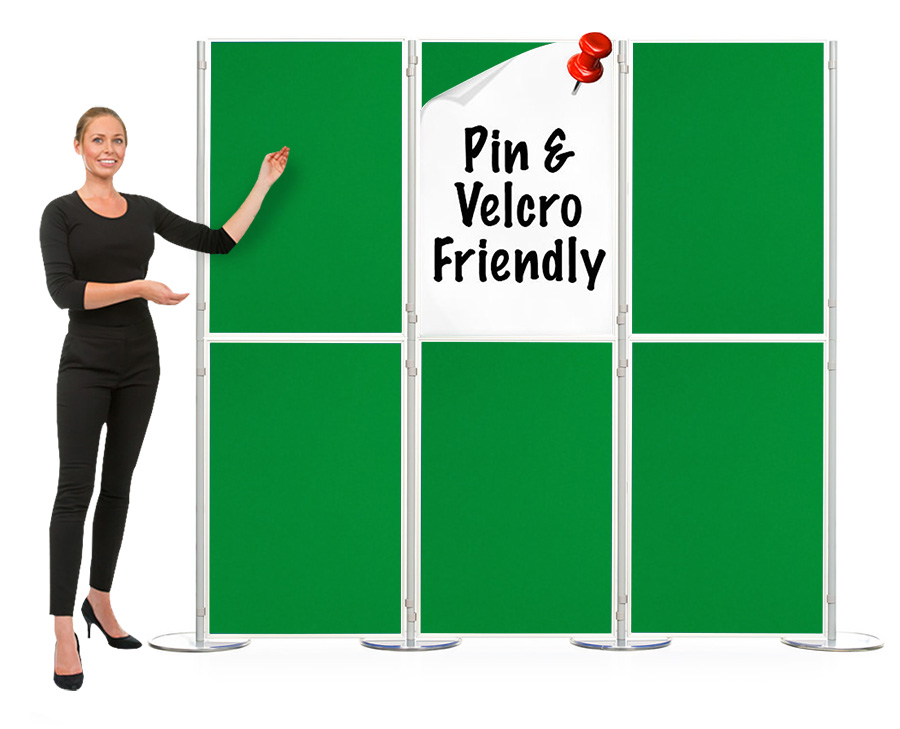 Pinnable 6 Panel And Pole Modular Display Boards