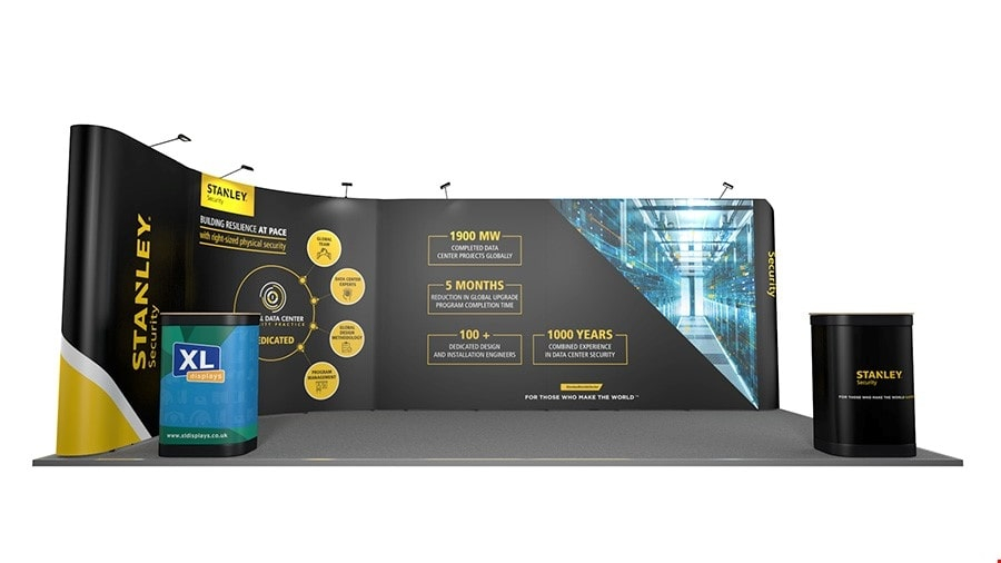 6m x 3m Linked L-Shaped Pop Up Display Stand