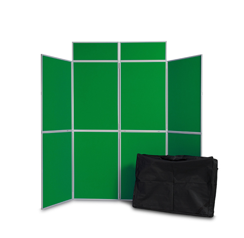 8 panel folding display board inc. header and carry bag