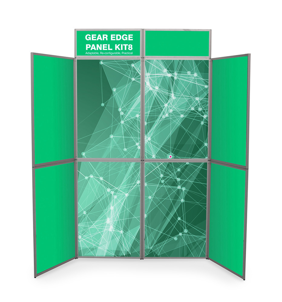 Heavy Duty Printed Graphic 8 Panel Display Boards