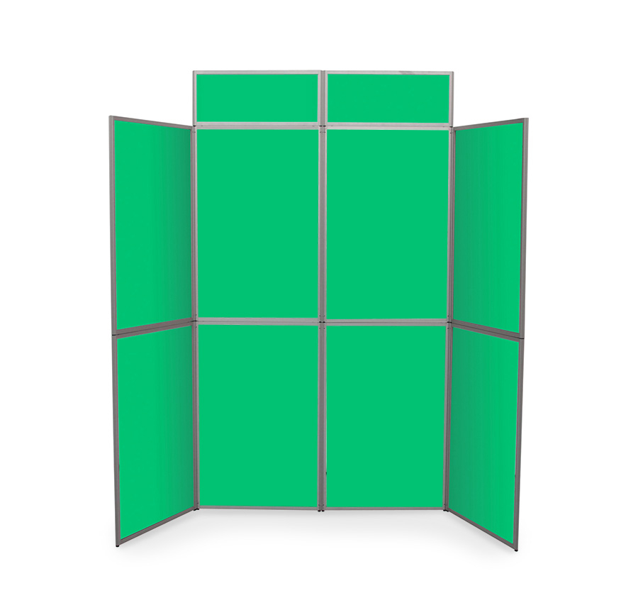 Heavy Duty Fabric 8 Panel Display Boards