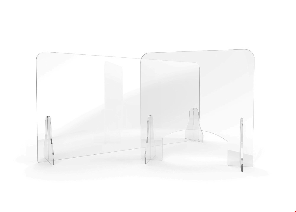 ACHOO Crystal Clear Free Standing Perspex Screen