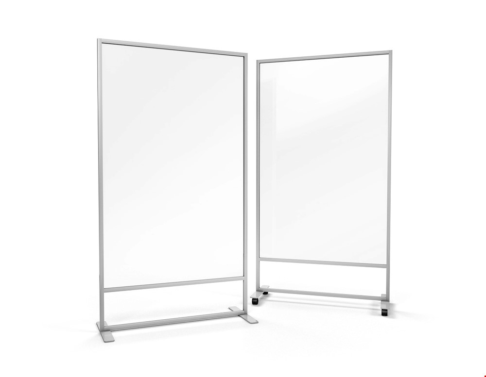 ACHOO®  Crystal Clear Freestanding Office Screen Divider