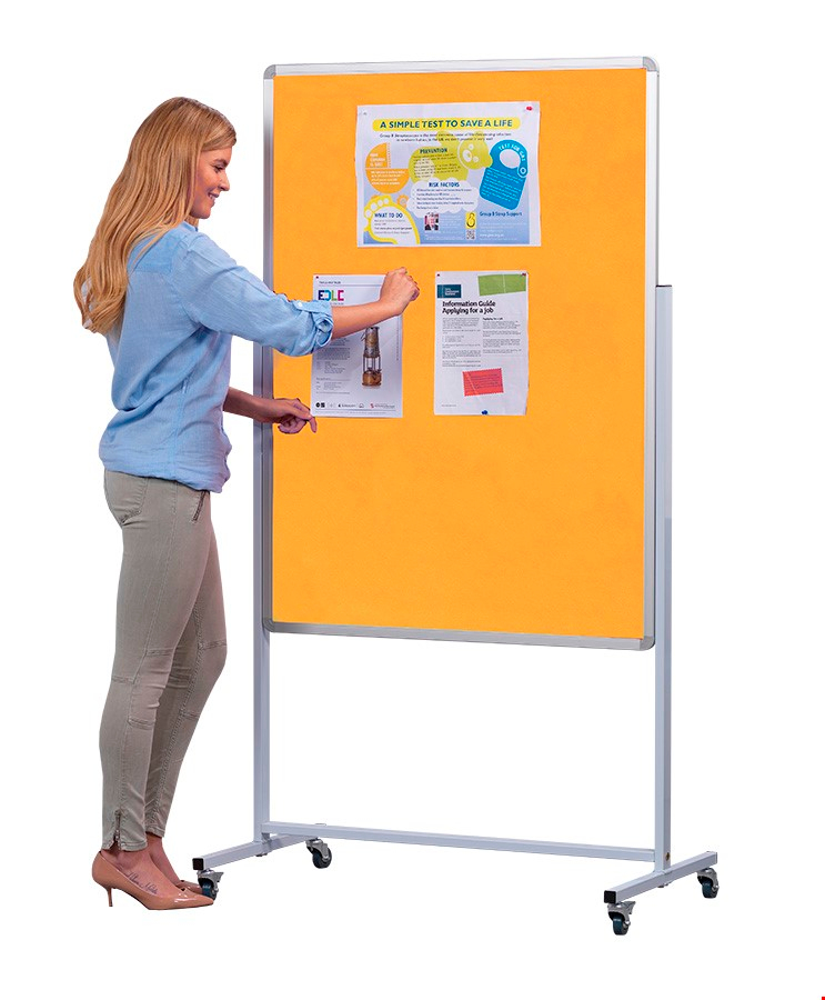 Accents Freestanding Mobile Noticeboards